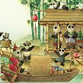 Pandabears Christmas 03 by Kestutis Kasparavicius