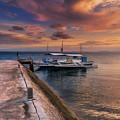 Pandanon Island Sunset by Adrian Evans