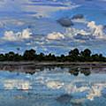 Pano Cambodia Lake  by Chuck Kuhn