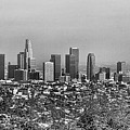 Pano Los Angeles City Black White by Chuck Kuhn
