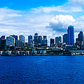 Pano Of Downtown Seatle by Rodney  Perry