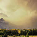 Panorama Clearing Storm Over The Grand Tetons by Dave Welling