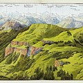 Panorama Drawn From The Rigi Mountain by MotionAge Designs