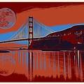 Panorama Golden Gate Bridge Landmark 2 by Celestial Images