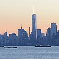 Panorama New York City Skyline At Sunrise by Merijn Van der Vliet