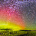 Panorama Of An Aurora And The Milky Way by Alan Dyer