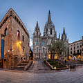 Panorama Of Cathedral Of The Holy Cross And Saint Eulalia In The by Andrey Omelyanchuk