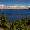 Panorama Of Crater Lake by Brenda Jacobs