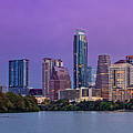 Panorama Of Downtown Austin Skyline From The Lady Bird Lake Boardwalk Trail - Texas Hill Country by Silvio Ligutti