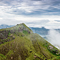 Panorama Of Early Morning On The Caldera At Mount Batur Volcano In Bali by Global Light Photography - Nicole Leffer
