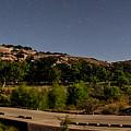 Panorama Of Enchanted Rock At Night - Starry Night Texas Hill Country Fredericksburg Llano by Silvio Ligutti