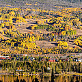 Panorama Of Frisco With Fall Foliage Aspens - Colorado Rocky Mountains by Silvio Ligutti