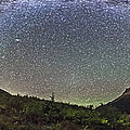 Panorama Of Milky Way Over Red Rock by Alan Dyer