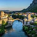 Panorama Of Mostar, Bosnia And Herzegovina by Global Light Photography - Nicole Leffer