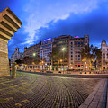 Panorama Of Placa De Catalunya In The Morning, Barcelona, Spain by Andrey Omelyanchuk
