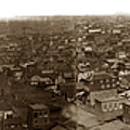 Panorama Of San Francisco Copy By T.e. Hecht From An 1855 Image by California Views Archives Mr Pat Hathaway Archives