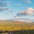 Panorama Of Santa Fe And Sangre De Cristo Mountains - New Mexico Land Of Enchantment by Silvio Ligutti