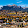 Panorama Of Silverthorne In The Fall - White River National Forest - Rocky Mountains - Colorado by Silvio Ligutti