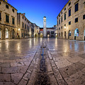 Panorama Of Stradun Street And Luza Square In Dubrovnik, Dalmati by Andrey Omelyanchuk