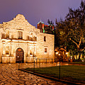 Panorama Of The Alamo In San Antonio At Dawn - San Antonio Texas by Silvio Ligutti