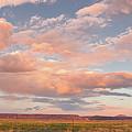 Panorama Of Twilight Clouds Over Tetilla Peak Recreation Area - Cochiti Lake New Mexico by Silvio Ligutti