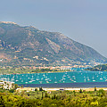 Panorama On Greek Island by Sandra Rugina