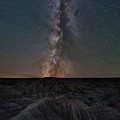 Panorama Point Milky Way Badlands  by Michael Ver Sprill