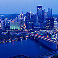 Panoramic Evening View Of Pittsburgh by Panoramic Images