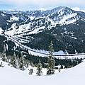 Panoramic Mountain Top View Of Popular Washington Resort by Open Range