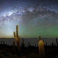 Panoramic Of Milky Way And Incahuasi Island by James Brunker