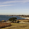Panoramic Of Woods Hole  by Mike Poland