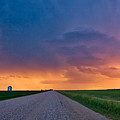 Panoramic Prairie Lightning Storm by Mark Duffy