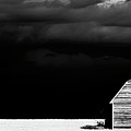 Panoramic Prairie Storm And Barn by Mark Duffy