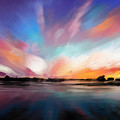 Panoramic Seascape by Melanie D