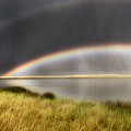 Panoramic Storm In The Marshes by Mark Duffy