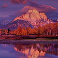 Panoramic Sunrise Oxbow Bend Grand Tetons National Park by Dave Welling