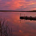 Panoramic Sunset Northern Lake by Mark Duffy