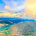 Panoramic Sunset On Mount Evans by James O Thompson