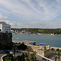 panoramic town 1  - Panorama of Mahon Menorca with old town and harbour by Pedro Cardona Llambias