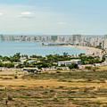 Panoramic View At The Salinas Beaches In Ecuador by Marek Poplawski