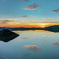 Panoramic View Of Crater Lake by Pierre Leclerc Photography