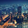 Panoramic View Of Dubai City by Anna Om