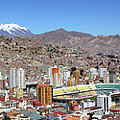 Panoramic View Of La Paz From Killi Killi Viewpoint Bolivia by James Brunker