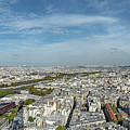 Panoramic View Of Paris From The Top Of The Tower by Sanchez PhotoArt