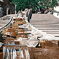 Panoramic View Of Stairs And Waterfall by Panoramic Images