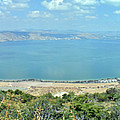 Panoramic View Of The Sea Of Galilee by Lydia Holly