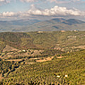 Panoramic View Of Umbrian Hills In Italy Taken From Preggio by Jon Ingall