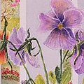 Pansies On My Porch by Mary Ellen Mueller Legault