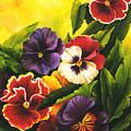 Pansies Or Vuela Mis Pensamientos by Dominica Alcantara