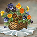 Pansy Basket by Ruth Bares